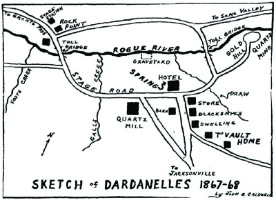 Dardanelles Map Sketch from 1800s