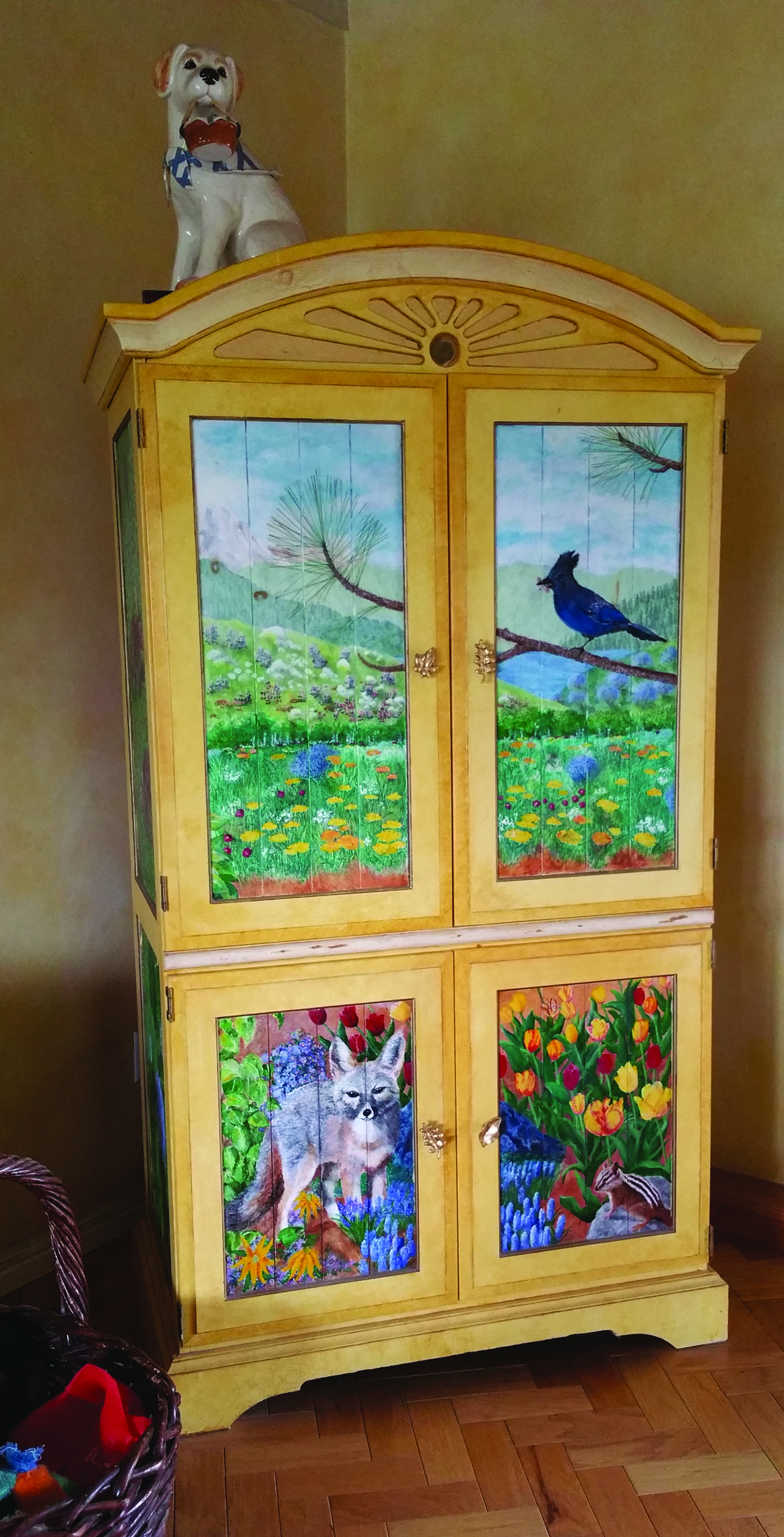 Lovely Hand-painted cabinet by Gerry and Marlene Ludlow